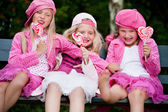 3 playfull sisters — Stock Photo
