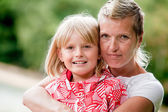 Mother and daugther portrait — Stock Photo