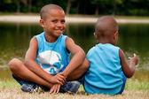 2 africké děti — Stock fotografie
