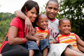 Colorfull african family — Stock Photo