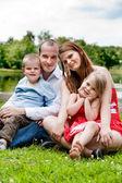 家族での休暇の肖像画 — ストック写真