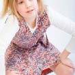 Blond child posing fashion — Stockfoto