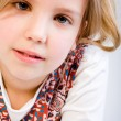 Blond child awaiting an answer — Stock Photo