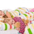 2 sleeping children - Stock Photo