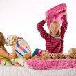 Pillow fight — Stockfoto