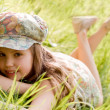 Relaxing young girl — Stock Photo