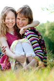 Happyness mother and daugther — Stock Photo