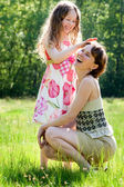 Mother and daugther relationship — Stock Photo