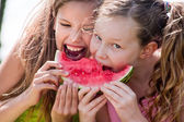 Attack the watermelon — Stock Photo