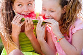 Watermelon fight — Stock Photo