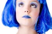 Bleue fille en levant — Photo