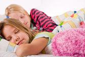 2 sleeping princesses — Stock Photo