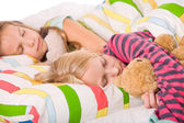 Cute sleeping children — Stockfoto