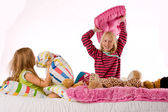 Pillow fight — Stock Photo