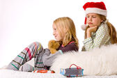 Christmas fight depressive — Stock Photo