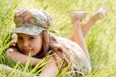 Relaxing young girl — Stock Photo