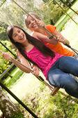2 girls on the playground — Stock Photo