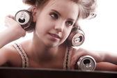 Fashion hairstyles — Stock Photo