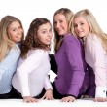 Happy girly group — Stock Photo