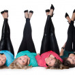 4 pair of legs up — Stock Photo #12654041