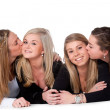 Kiss the girls on the floor — Stock Photo