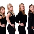 Ladies in black — Stock Photo