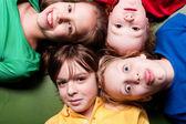 Happy color schoolkids — Stock Photo