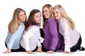 Glad girly grupp — Stockfoto