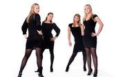 4 dámy v sexy póza — Stock fotografie