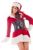Lovely santa girl — Stock Photo