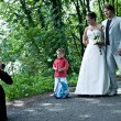 Photographing a wedding couple - Stock Photo