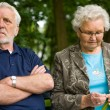 Elderly couple enjoying nature — Stock Photo