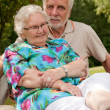 Senior couple loving eachother — Stock Photo