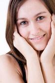 Sweet woman smiling — Stock Photo
