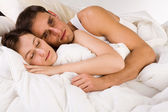 Sleeping toghether wider — Stock Photo