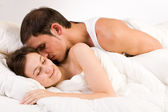 Wake-up with a Kiss — Stock Photo