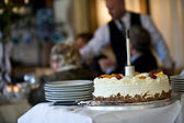 Finished wedding pie — Stock Photo
