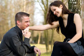 Popping the question — Stock Photo