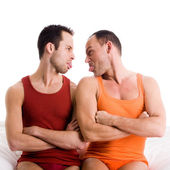 Homo couple sticks tonque out — Stock Photo