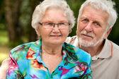Portrait de l'heureux couple de personnes âgées — Photo