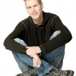 Boy in a black sweater smiling — Stock Photo #12694070