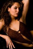 Sexy brunette in lingerie is elegence — Stock Photo