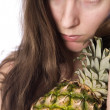 Holding my pineaplle — Stock Photo #12708711
