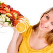 Presenting the salad — Stock Photo