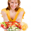 You want a piece of salad — Stock Photo #12708873