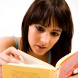 Stock Photo: Focussed on reading
