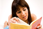 Concentrated on reading — Stock Photo