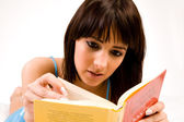 Focussed on reading — Stock Photo