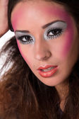 Lovely mixed raced girl with extreme make-up — Stock Photo