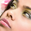 Yellow and Blue Indian Beauty — Stock Photo